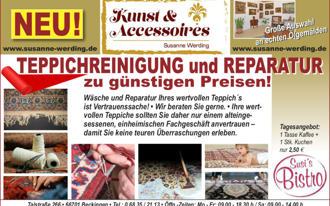 Teppich-Reinigung und -Reparatur!